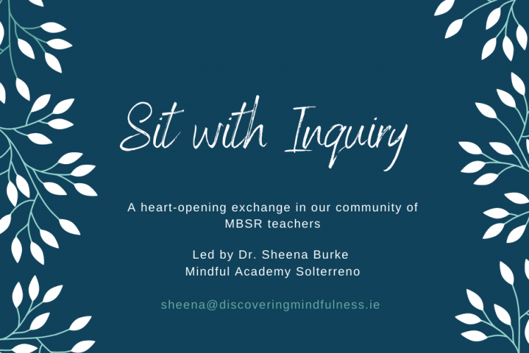 Sit with Inquiry sessions